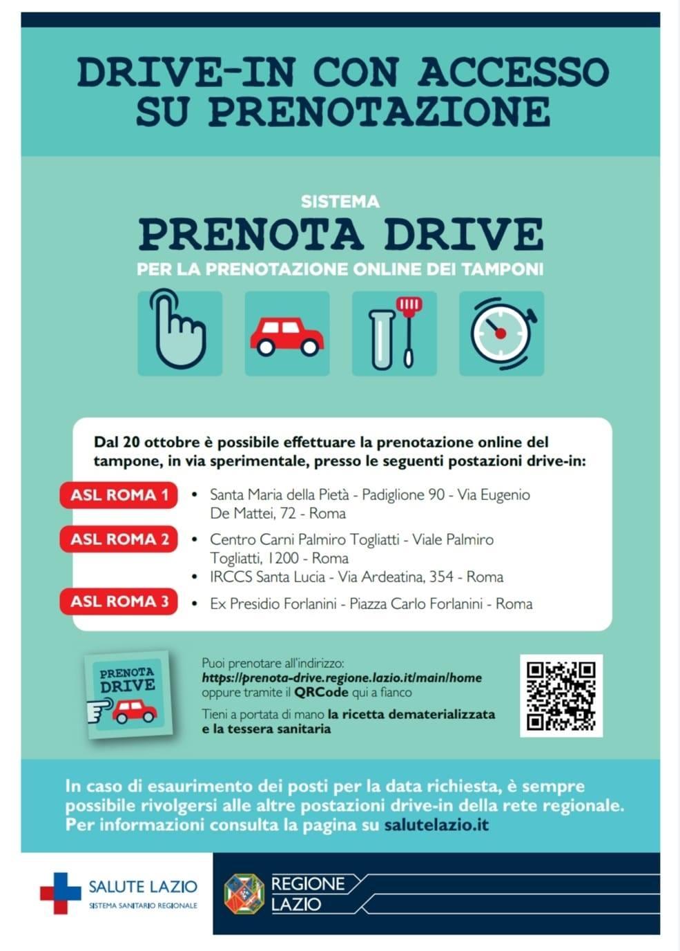 Covid Nel Lazio Parte La Sperimentazione Per Prenotazione Tamponi Ai Drive In Quotidiano Sanita
