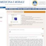 """""""Medicina e Morale"""". Si rinnova la rivista internazionale di bioetica dell'Università Cattolica"""